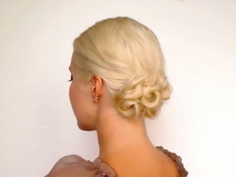 Easy 5 min updo for work/school and bad hair days