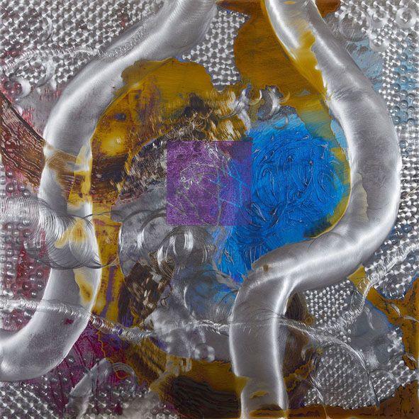 Mixed-media paintings on Aluminum Plate