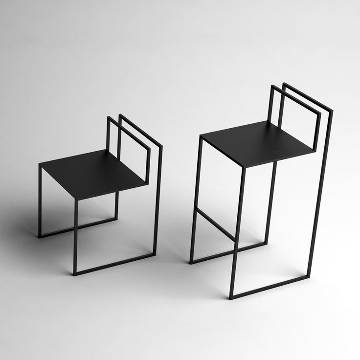 Nissa Kinzhalina's Gentle Hint chairs resemble incomplete line drawings