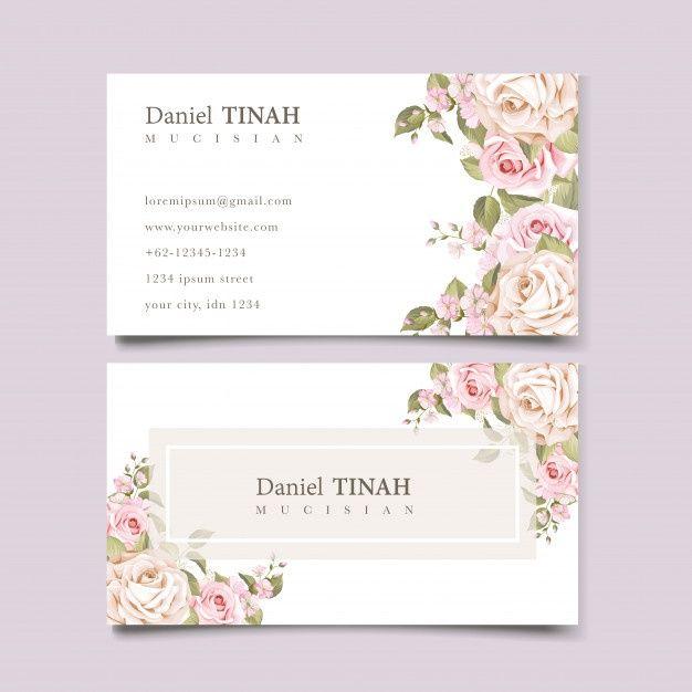 Download Elegant Soft Floral Business Card Template For Free In 2021 Floral Business Cards Wedding Florist Logo Vintage Floral Backgrounds