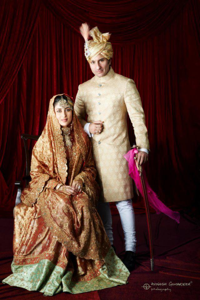 The beautiful Kareena Kapoor and Saif Ali Khan on their wedding day!