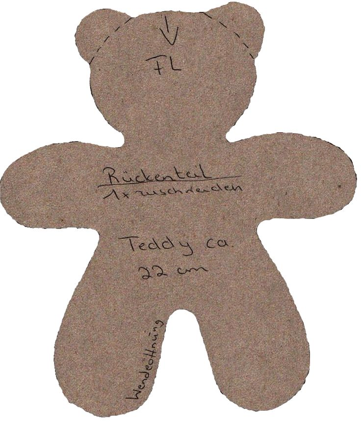 Simple Teddy Bear Pattern to use for felt/patchwork teddies