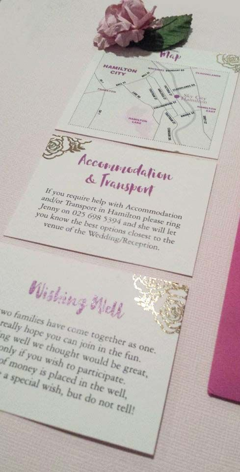Gold Foiling on a Wedding Invitation designed by Imagine if Creative Studios