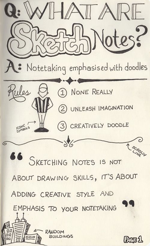 Sketch notes! Why didn't I ever think of that? My doodles can be useful now!!