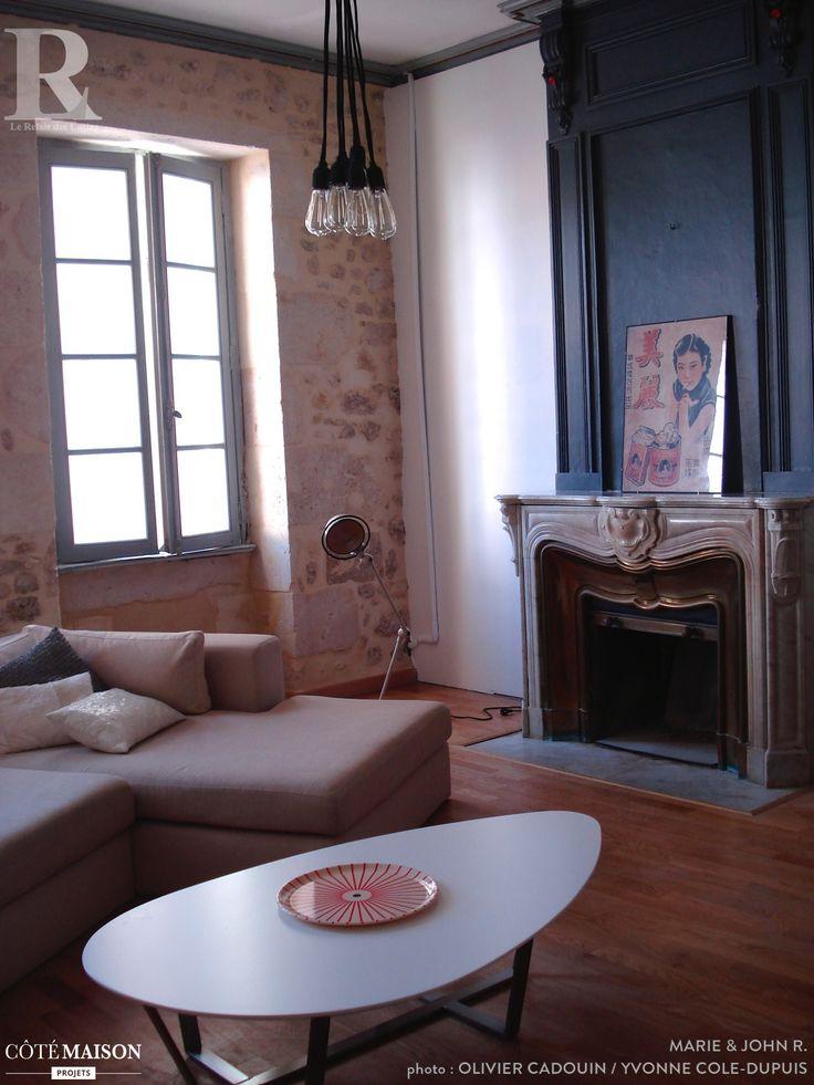 Les 25 meilleures id es concernant vieille chemin e sur - Appartement renove avec un cote vintage ...