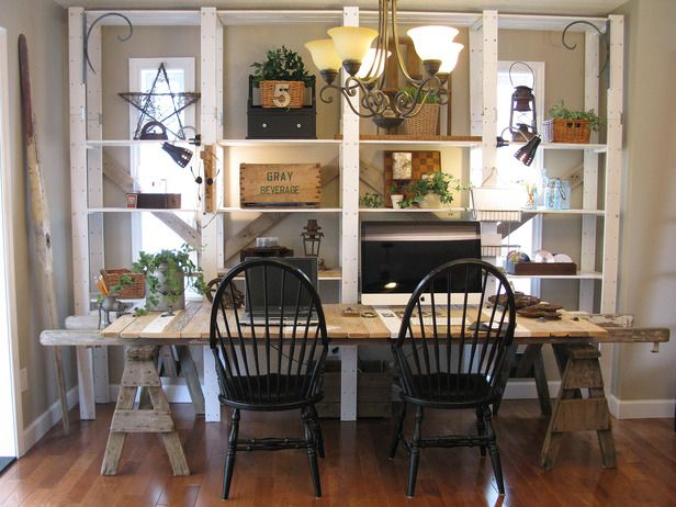 Salvaged Home Office - 12 Clever Uses for Old Furniture on HGTV