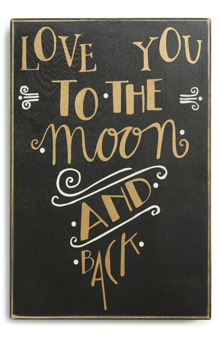 A romantic distressed box sign that will look perfect hanging above the bed.