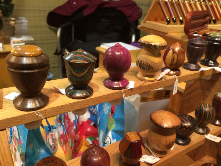 Turned wood bottle stoppers by Rudi Rudolph, Wooden Apple Woodturning