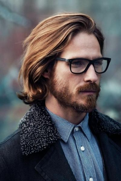 Trendy Long Hairstyle for Men. Even though I do not care for long hair on men, this really flatters him.