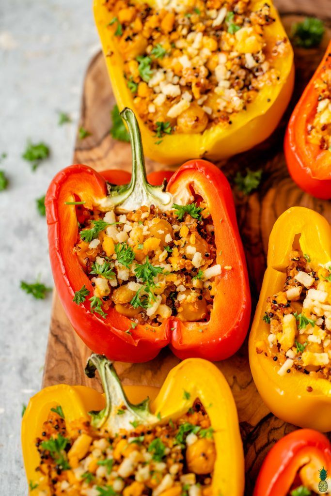 5 Ingredient Stuffed Peppers Gluten Free Recipe Stuffed Peppers Food Recipes How To Cook Quinoa