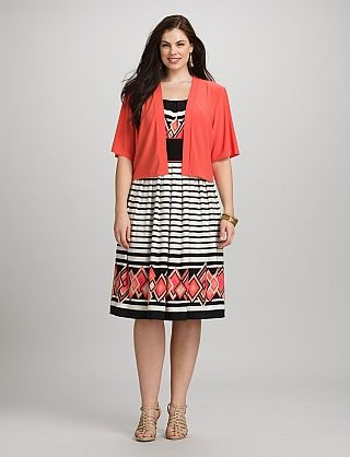 96322ee0c7b Plus Size Coral Jacket Dress | Dressbarn | Easter Dresses Plus Size |  Dresses, Girls easter dresses, Coral jacket