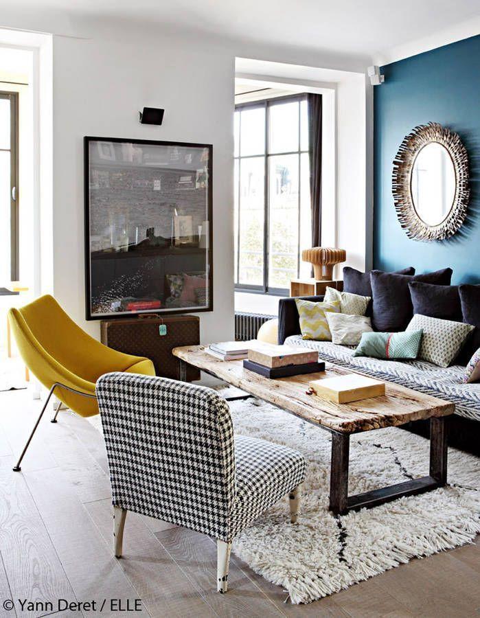 Photos d'un appartement parisien modernisé, entre vintage et design – Elle Décoration