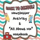 This is a fun way to start the school year and get to know your students! You will find a 1-page back-to-school newsletter template activity, as we...