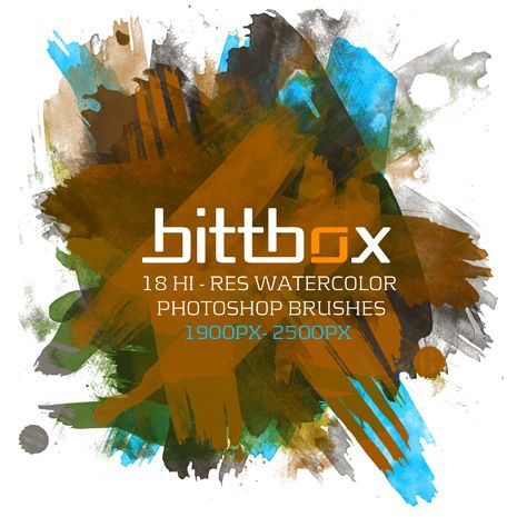BittBox Free Hi-Res Watercolor Photoshop Brushes