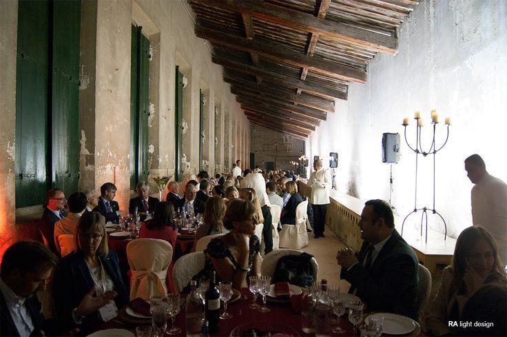 Red Cross dinner at Giardino Corsini Florence  www.ralightdesign.com