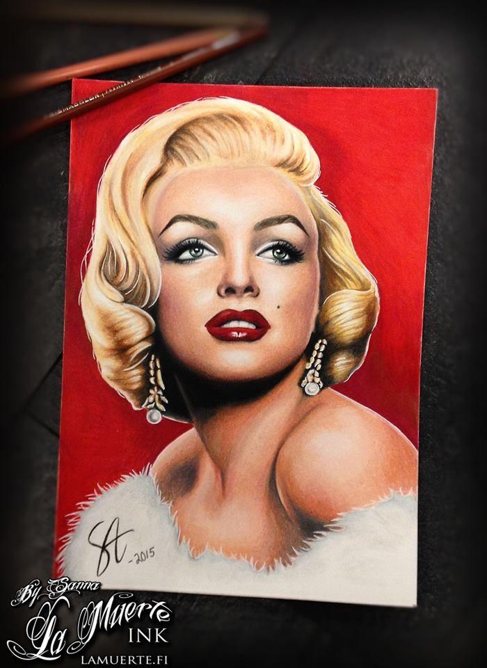 Marilyn Monroe potrait by Sanna Angervaniva @ La Muerte Ink