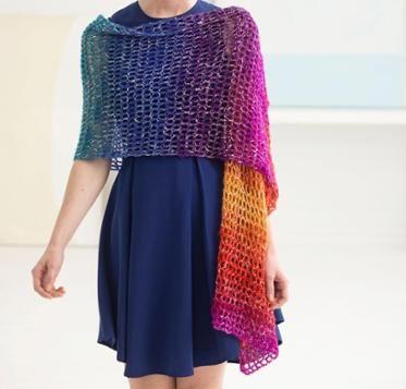 Openwork Shawl Crochet Kit