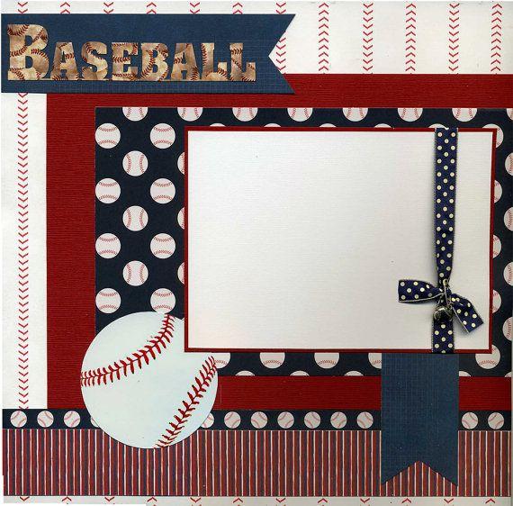 Premade Baseball Scrapbook Page by SusansScrapbookShack on Etsy