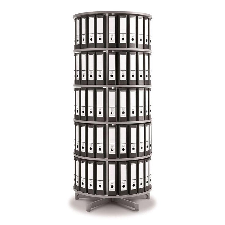 Spin N File Five Tier Rotary Binder Storage Carousel - TURN5