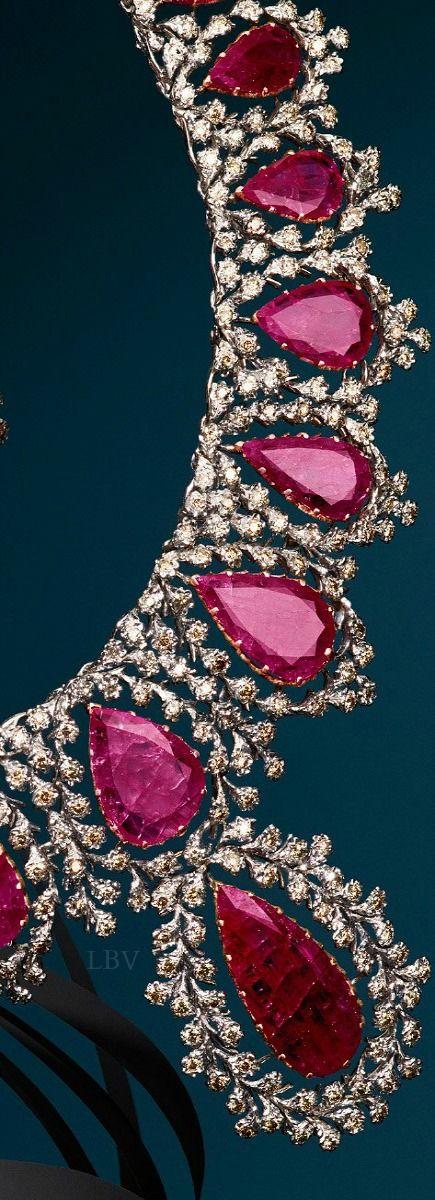 Buccellati   diamond and ruby necklace