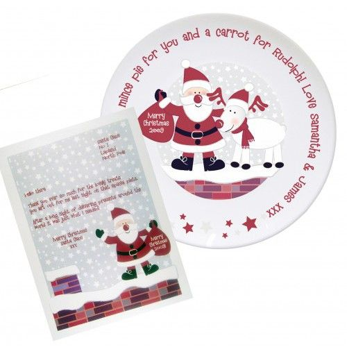 Personalised Christmas Eve Plate & Letter