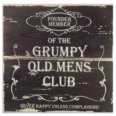 Small Grumpy Old Men Wooden Sign Grumpy Old Men Old Man Birthday 60th Birthday Presents
