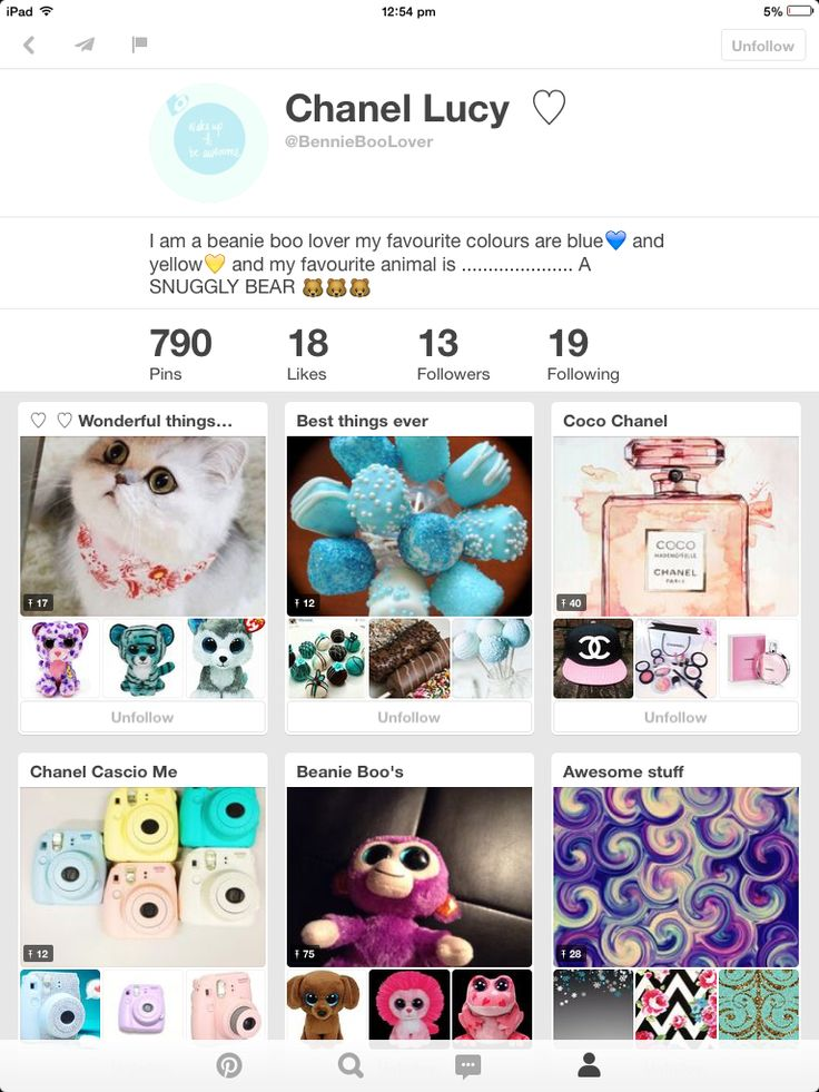 Chanel Lucy she has only been pinning for a while but boy she has a lot of good pins! Please follow this awesome account!
