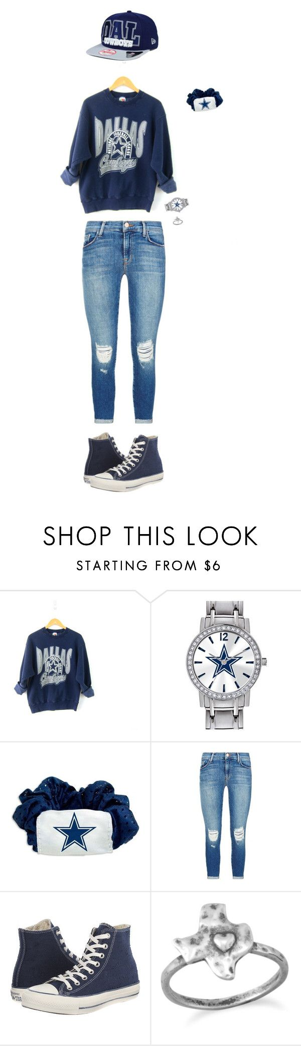 """This was our last Super Bowl hope of Texas, now I'm just watching it for Beyoncé"" by nml3105 ❤ liked on Polyvore featuring Game Time, Little Earth, J Brand, Converse, New Era, women's clothing, women, female, woman and misses"