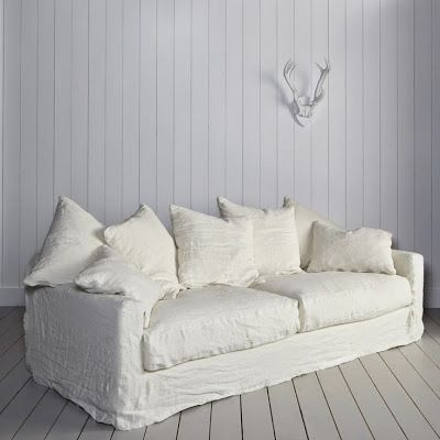 The White Linen Sofa I Need Rooms Pinterest And Couch