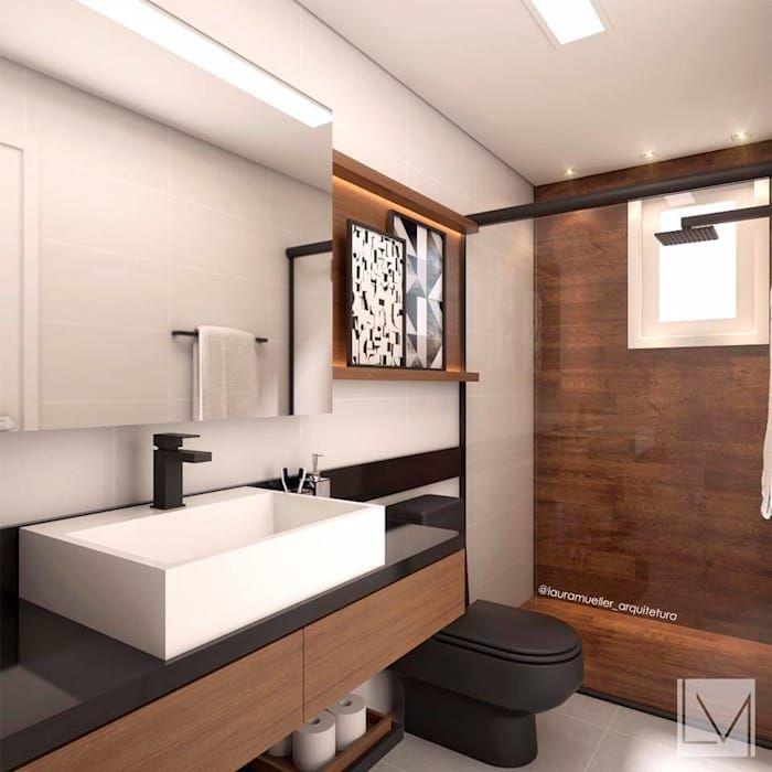 Banheiro Moderno Banheiros Por Laura Mueller Arquitetura