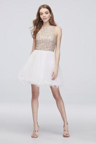 99c22b306 Short Ballgown Halter Cocktail and Party Dress - Speechless   Brides ...