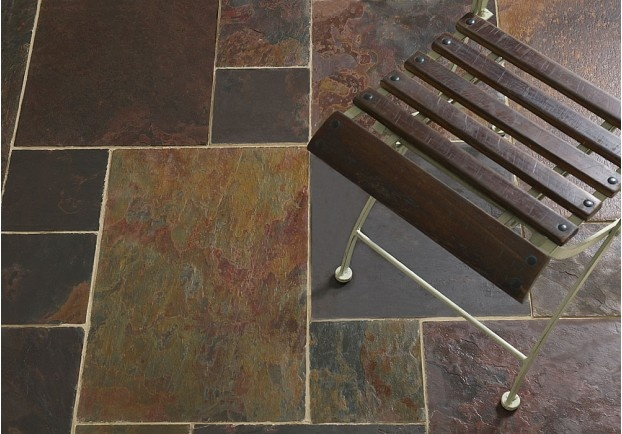 The Peacock Slate is a rich slate with a wide range of deep purples, coppers, dark blues and reds.