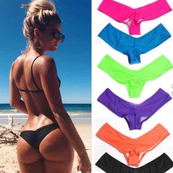 Sexy Bikini Bottom  Brazilian bikini bottom. Pink-M, Blue-M,Black-S/M solid color.price firm Swim Bikinis