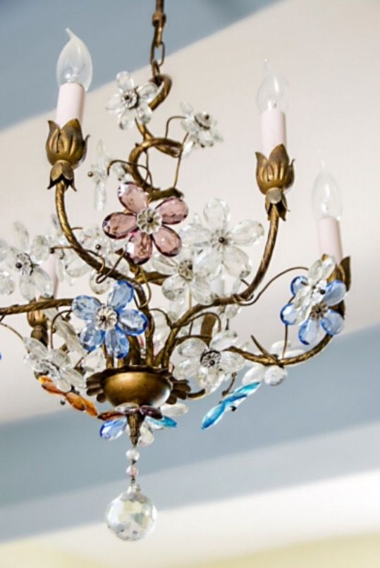 "This chandelier is from our feature ""A Leading Role"""