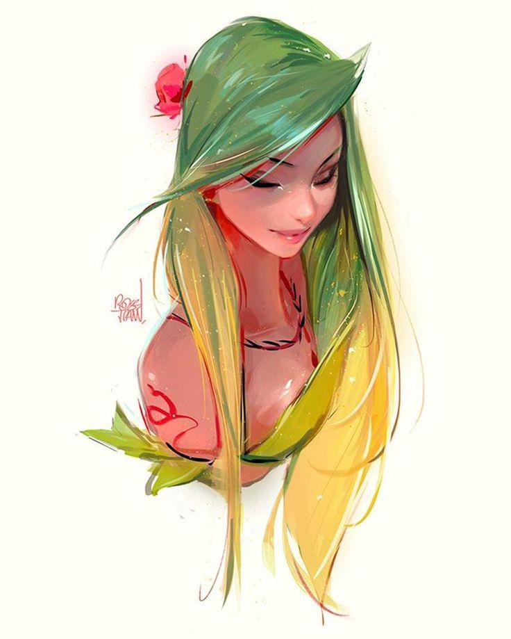 Рисованные мультяшные картинки девушек