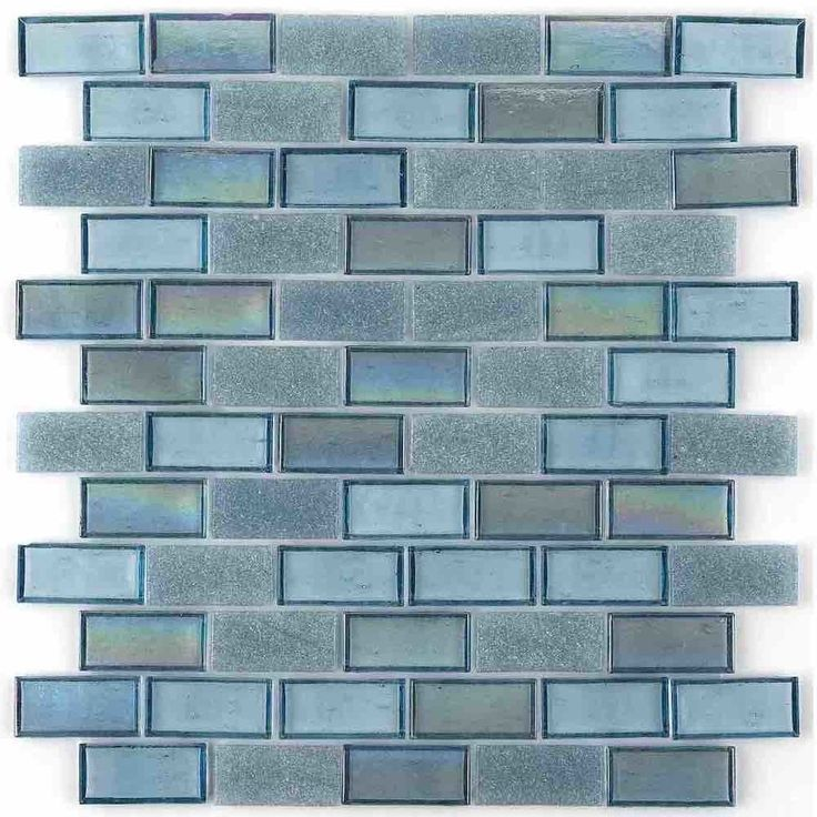 Iridescent Recycled Glass Tile Neutral 1 x 2 Mineral