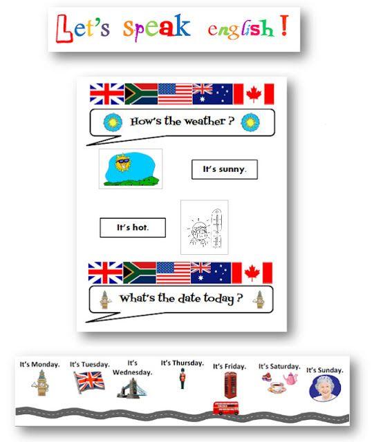 Teacher Charlotte: Coin affichage Anglais: rituels de la date et de la météo