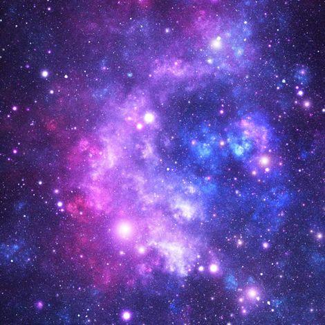 Purple Space Stars fabric by inspirationz on Spoonflower - custom fabric