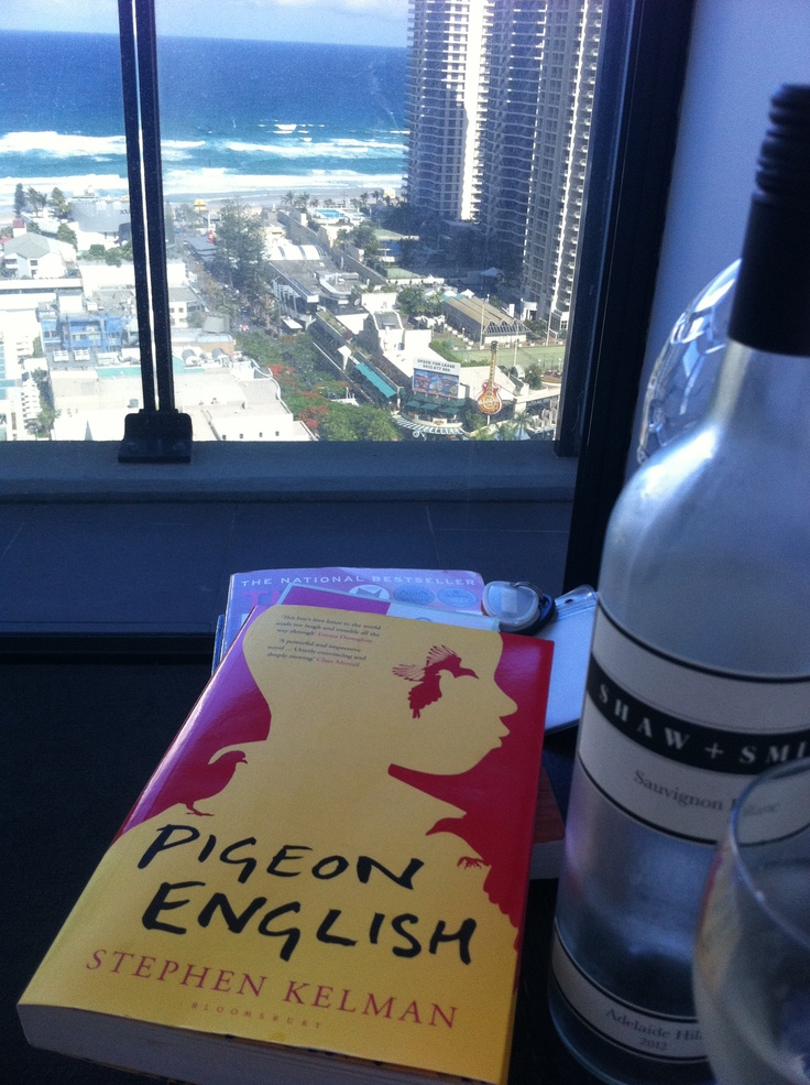 Pigeon English by Stephen Kelman, while holidaying on the Gold Coast