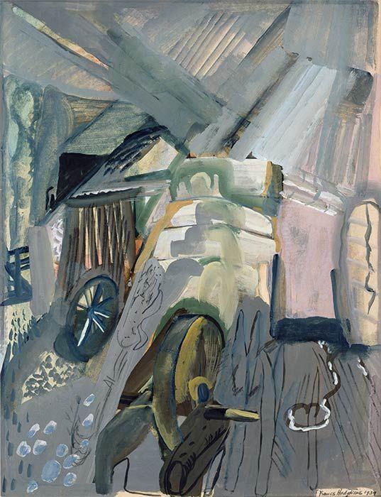 Frances Hodgkins, 'Circular barn'