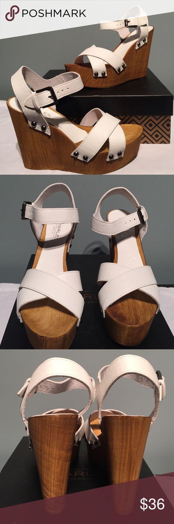 🎈NIB Charles by Charles David leather wedge🎈 NIB leather wedge.  Heel is 4 3/4.  Thanks for looking! Charles David Shoes Heels