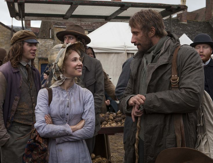 Juno Temple, Matthias Schoenaerts in film FAR FROM THE MADDING CROWD : movie directed by Thomas Vinterberg starring Carey Mulligan, Juno Temple, Michael Sheen; Drama; Romance; film; cinema; movie; film; british; 2015 NOTE: this is a PR photo. SUNSETBOX does not claim any Copyright or License in the attached material. Fees charged by SUNSETBOX are for SUNSETBOX's services only, and do not, nor are they intended to, convey to the user any ownership of Copyright or License in the material. B...