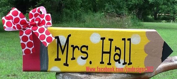 Hey, I found this really awesome Etsy listing at http://www.etsy.com/listing/157126554/personalized-giant-pencil-teacher-desk