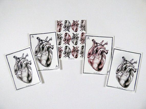 Anatomical Heart Alternative Valentines Postcards by RikkiBattle