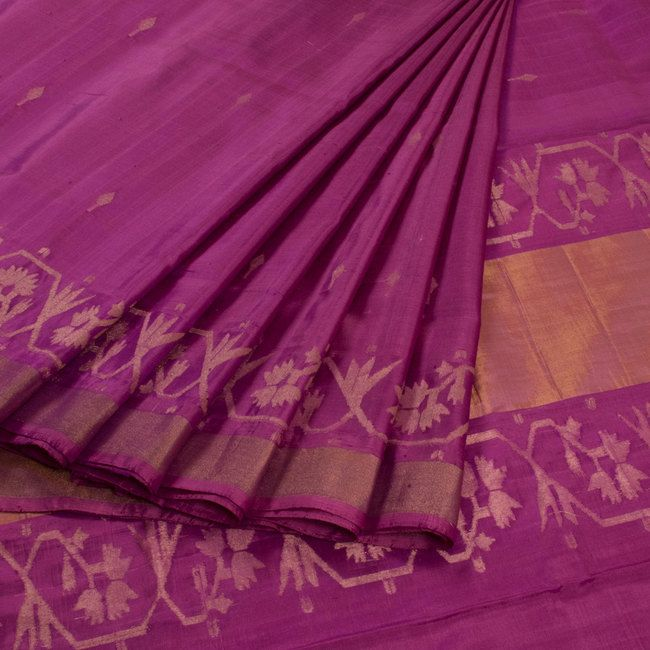 Buy online Handwoven Uppada Jamdani Silk Saree 10010827