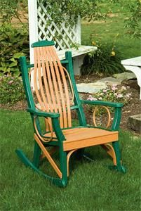 Amish Polywood Outdoor Rocking Chair