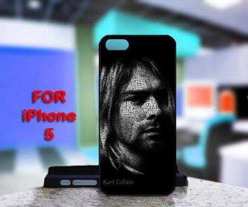 Kurt Cobain For IPhone 5 Black Case Cover