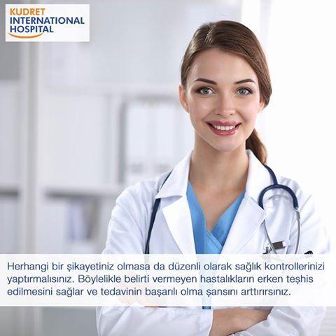 Düzenli sağlık taramalarınızın yapılması, erken teşhis için çok önemlidir.  #kudretinternational #hastane #saglik #ankara #turkiye #turkey