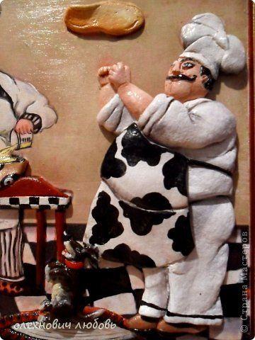 Картина панно рисунок Лепка Поворята Тесто соленое фото 2