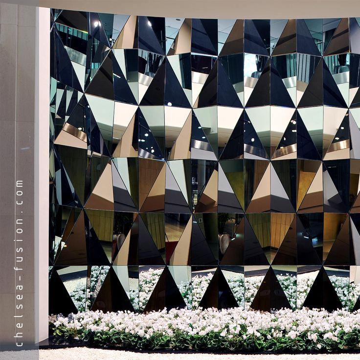 #bespoke fractal mirror specially design for Westfield Shopping Centre, White City, London UK #architecture #interiordesign #decorativeglass #glass  More info: